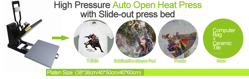 Good Quality Auto Open Sublimation T-shirt Transfer Heat Press Machine