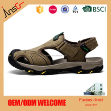 Insgear Bulk Sports Wholesale Rubber New Design Leather Arabic 2017 New Men Sandals Made In China