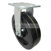8 inch Plate type rigid casters of 150 degree C