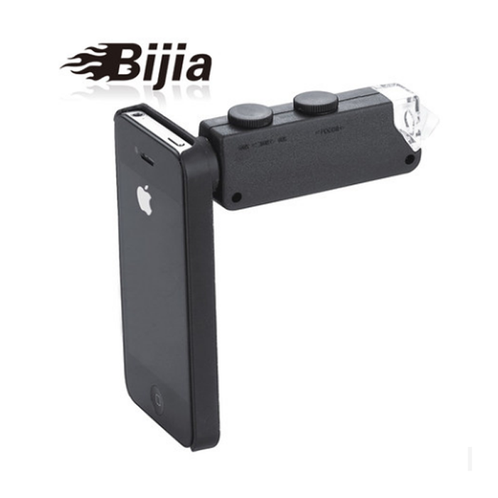 BIJIA 60x-100x mini led mobile phone magnifier microscope led zoom portable