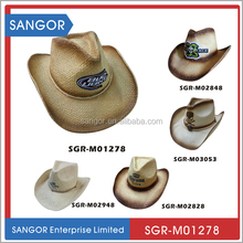 Customized Logo Paper Straw Cowboy Hats wholesale