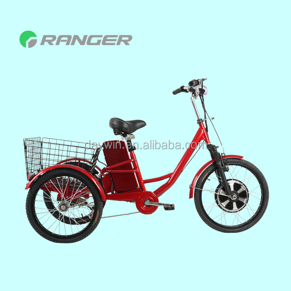 electric delivery tricycle with 36V 12Ah lead acid battery