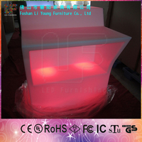High Quality Waterproof Bar Furniture LED Luminous Bar Tables Wholesale with Remote Control Battery Powered Table with LED Light