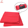Factory Direct Sale 100% Polyester Fire Retardant Solid Polar Fleece Airline Blanket