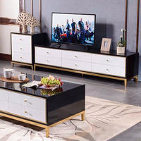 2019 newest design tempered glass tv unit cabinet for tv stand