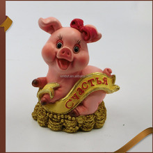2019 Chinese Zodiac Resin Pig Statue Cartoon Cute Pigs Wholesale