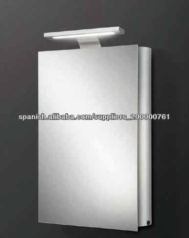 Ba o de aluminio armario con espejo con luz tocadores de ba o identificaci n del producto - Aluminio espejo ...