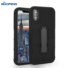 Strong Shockproof Safety Cover For Mobile Phone Cell Phone Case For ZTE Avid 4 [MetroPCS] With Hidden Stand Function