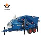 Large capacity mini mobile concrete mixing plant batching mixing skid