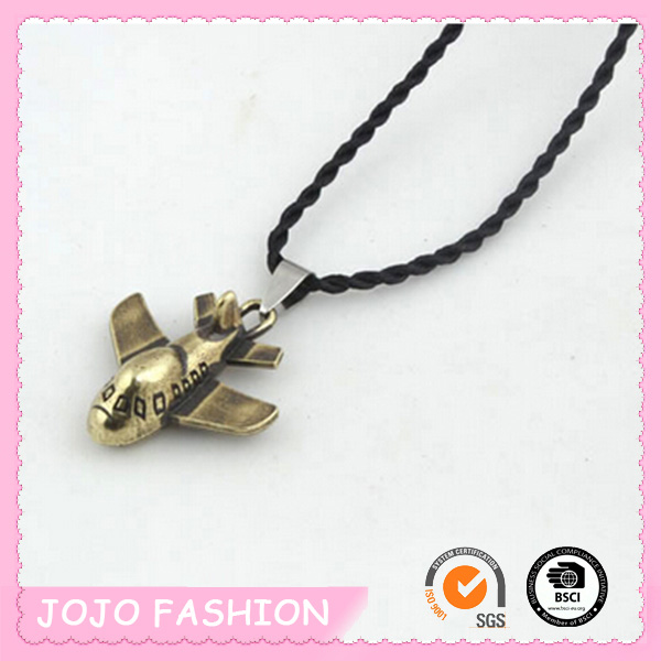 Pendant rope airplane necklace for boys