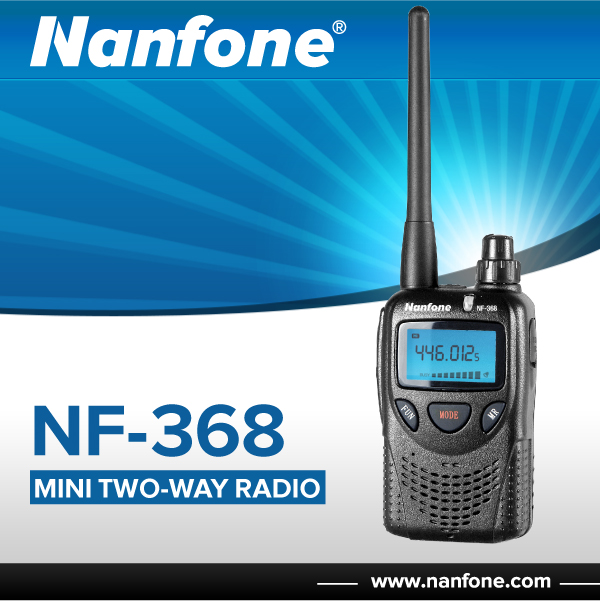 Nanfone NF368 handheld two way radio with built-in FM radio and visual LCD display