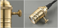Hanging Pendants Solid Brass Light Socket, Brass lampholder/base Switch