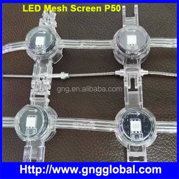 Flexible led mesh video display P40 P80