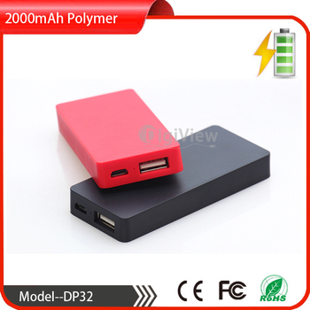 alibaba best-selling mini size 2000mAh polymer power bank portable smart mobile phone energy emergency charger