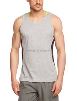 Men's Fitness Singlet tank top with/black/grey color