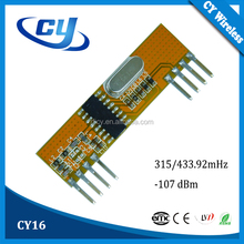 CY16 315 433.92 303.825MHZ RF ASK Receiver Module Data Transmission Parts for Nurse Call System