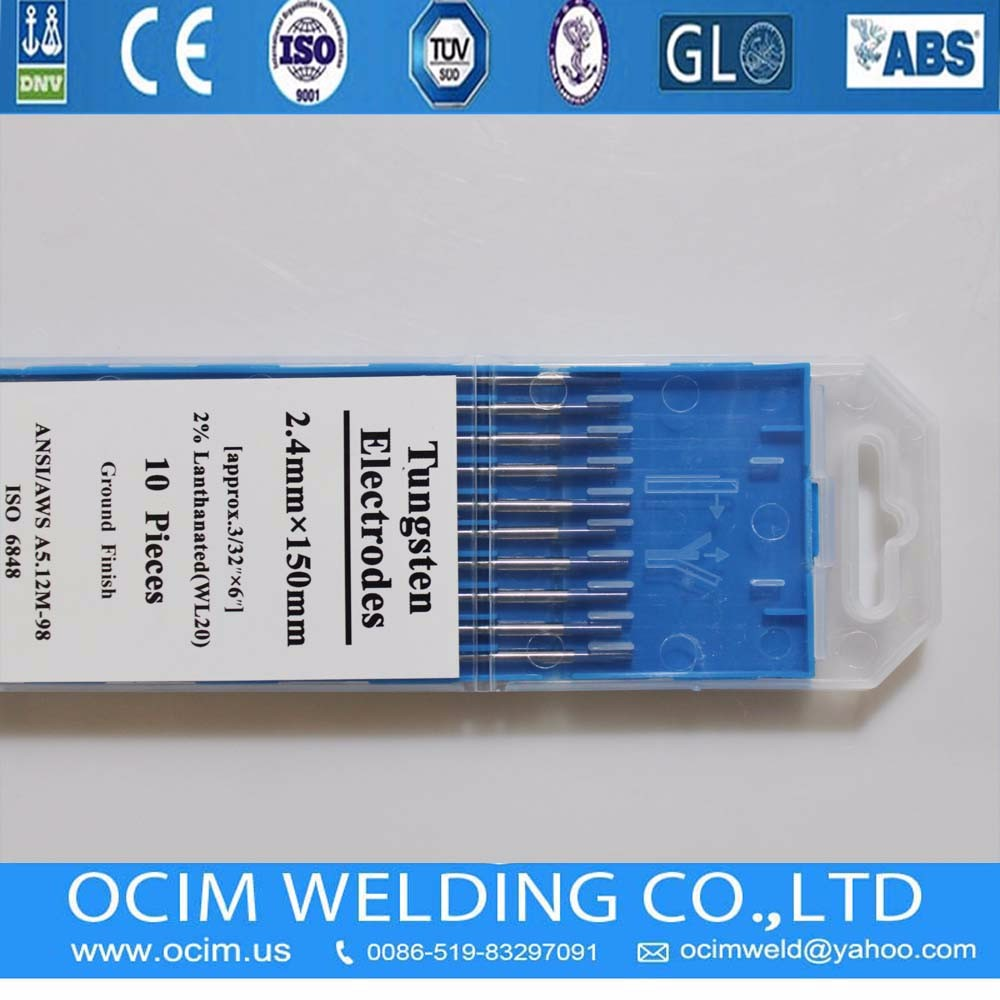 WL20 Lanthanated Grinding Tungsten Electrodes 2.4mm