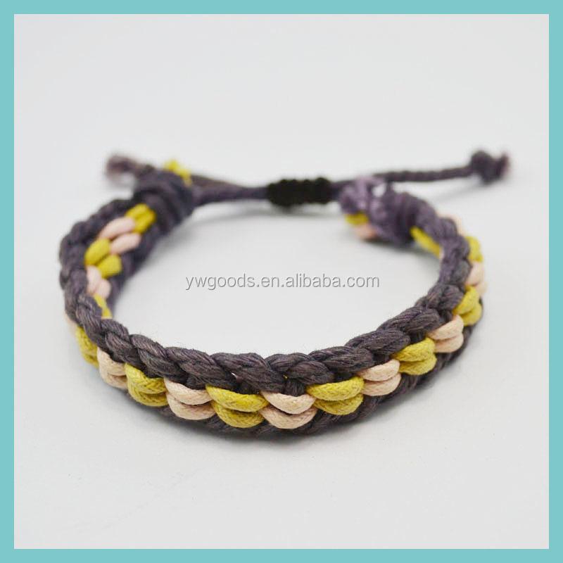 how to make wax cord bracelet