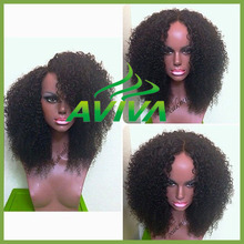 Large Stock Full Lace Human Hair Wigs kinky curly natural color glueless Baby Hair brazilian Bleached Knots virgin hair lace wig
