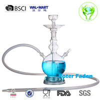 Factory direct sale hand blown borosilicate all glass hookah