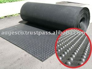 Rubber Mat Roll with Bubble pattern Top and Smooth Reverse