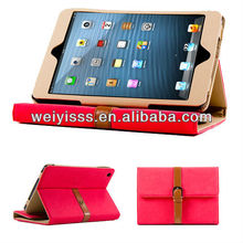 Belt Wallet Leather Stand case for iPad mini