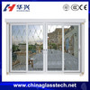Australia standard tempered/toughed glass powder coated white color aluminum alloy profile sliding doors and windows from china
