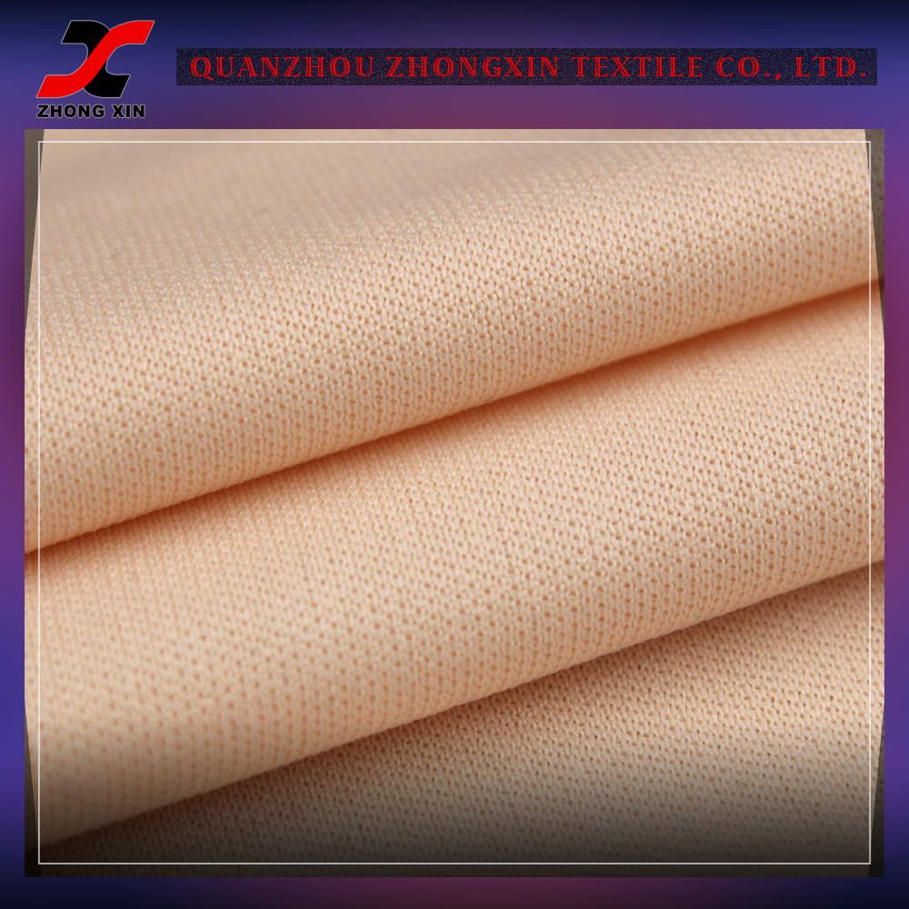 anti-static 100% polyester lining interlock double knitted fabric for sportswear