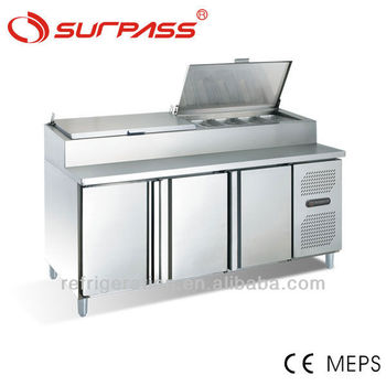 G0.7L3FPZ Commercial Stainless Steel Pizza Preparation Table
