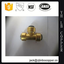 Factory supply pipe fittings ppr female thread tee/ ppr brass tee