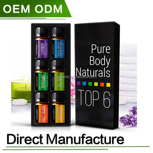 OEM/ODM 100% Pure Essential oils set Aromatherapy Gift Set 6 Set pure oil /10ml private label natureli organic oils