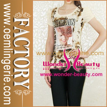 Newest Floral Printed Woman Fashion Tops