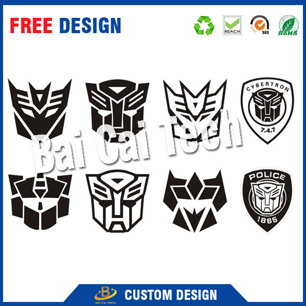 Professional manufacture weatherproof plastic pvc reflective custom car sticker logo