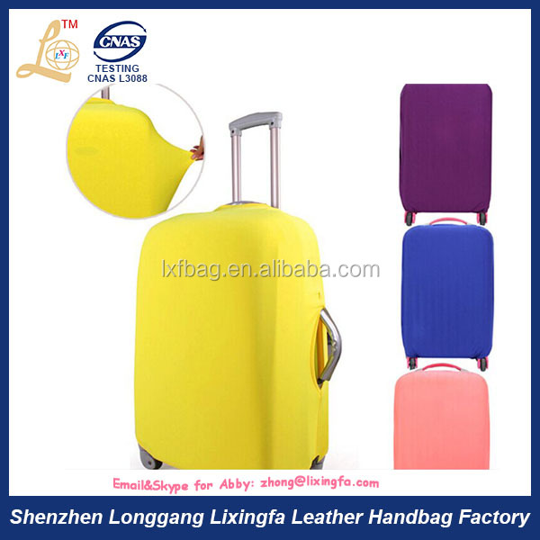 Hottest fashion high quality logo printing travel suitcase spandex luggage cover