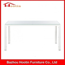 2014 Alibaba Fashionable Rectangle Top Glass Dining Table For Dining Room/Restaurant