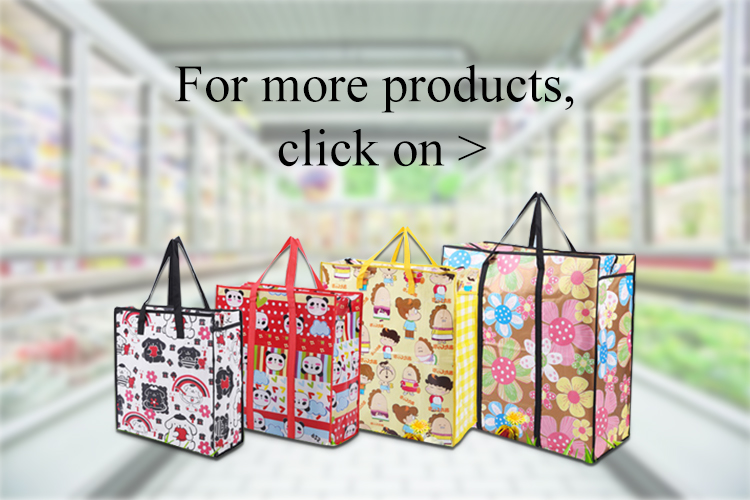 Factory Cheap Customized printed shopping tote fabric pp non woven bag