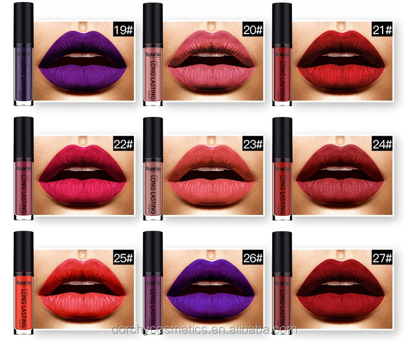 Magical Halo cosmetics organic liquid matte waterproof lipstick in lipgloss