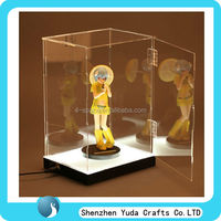 clear perspex toy display case countertop lucite toy display box acrylic display box with hinged door