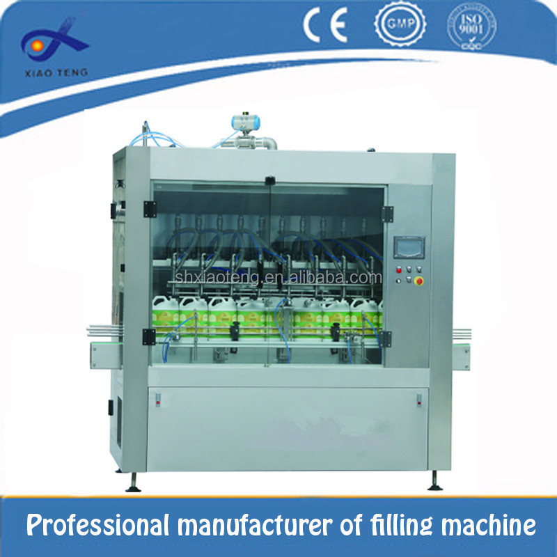 China xiaoteng factory saler piston pump hot liquid filling machine with 12 filling head