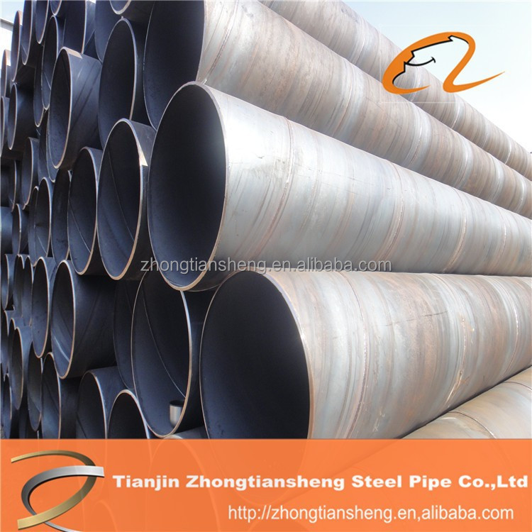 SSAW Spiral Steel Pipe / Tube oil and gas line pipe / large diameter steel pipe for sale