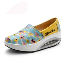 Spring Korean lazy shaking shoes casual canvas women's singles shoes fish pattern