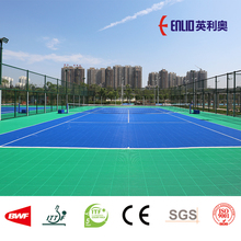 Enlio outdoor tennis court interlocking tiles with ITF certificate