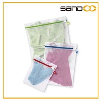 Hot Selling High Quality Cheap Color Coded Mesh Wash Bags, Set of 3