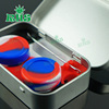 New design useful silicone container tin set silicone jars dab wax vaporizer oil container