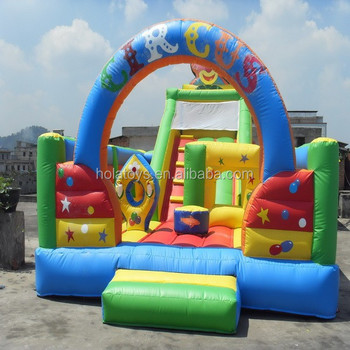 Hola giant inflatable amusement water park/inflatables slide