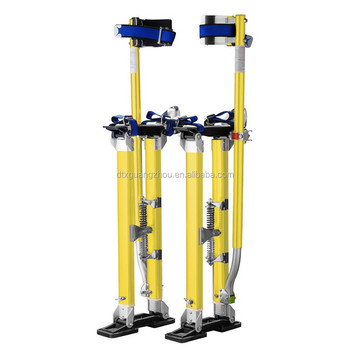 "Pentagon Tools 1152 Yellow Magnesium Drywall Stilts24""-40"""
