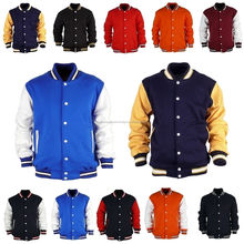 fashion plain yellow custom kids varsity jackets for boy