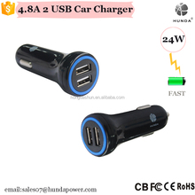 24W Dual USB Car Charger PowerDrive 2 Wireless PORT 4.8A Mobile phone Car Charger