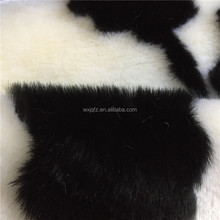 White and Black Jacquard Soft Comfortable Modacrylic Faux Fur Fabric For Garment