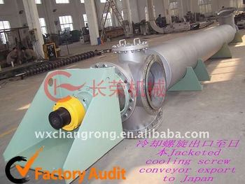 Handling Barium Carbonate Materials Cooling System Screw Conveyor